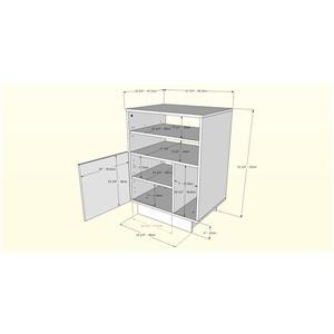 Nexera Morello Audio Tower - 1-Door - Wood - Truffle
