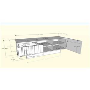 Nexera Marble TV Stand - 60-in - Wood - White