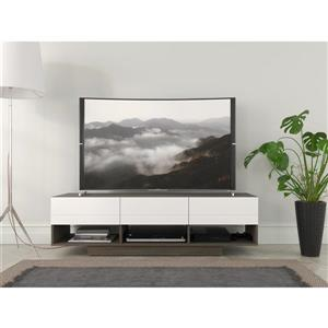 Nexera Rustik TV Stand - 60-in -  Wood - Bark Grey/White