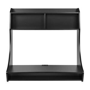 Prepac Compact Hanging Desk - Black - 38-in W x 37.75-in H x 19.75-in D