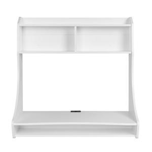 Prepac Compact Hanging Desk - White - 38-in W x 37.75-in H x 19.75-in D