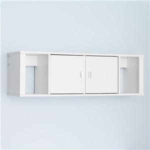Prepac Designer Floating Hutch - White - 42.5-inx13-in