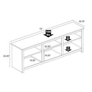 Prepac Sonoma TV Stand - Espresso - 72-in
