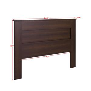 Prepac Queen Flat Panel Headboard - Espresso