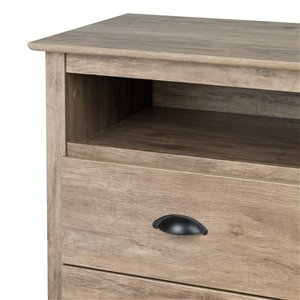 Prepac Salt Spring Tall Night Stand - Drifted Gray
