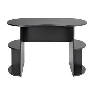 Prepac Kurv Compact Student Desk with Storage, Black