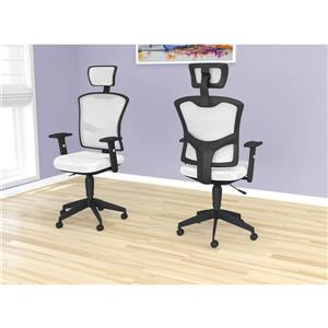 Safdie & Co. Executive Office Chair Mesh Multi Position - White