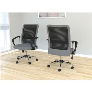 Safdie & Co. Office Chair Microfiber Mesh Multi Position - Grey and Black