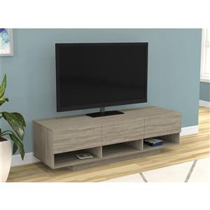 Safdie & Co. Tv Stand 3 Drawers & 3 Shelves - Dark Taupe - 60-in L
