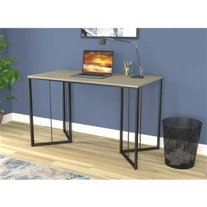 Safdie & Co. Computer Desk - Dark Taupe/Black Metal - 48-in