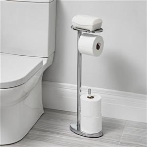 Better Living Better Living OVO Toilet Caddy - Chrome - 25.6-in