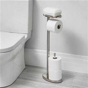 Better Living Better living OVO Toilet Caddy - Polished Nickel - 25.6-in