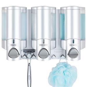 Better Living AVIVA Saop Dispenser for the shower - Silver - 3 x 310 ml