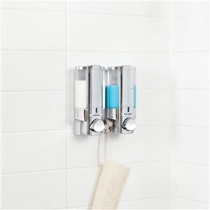 Better Living AVIVA Shower Soap Dispenser - Chrome - 2 x 310 ml