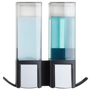 Better Living CLEVER Double Shower Soap Dispenser - Black - 2 x 480 ml