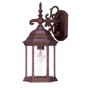 "Acclaim Lighting Madison 1-Light Wall Mount Lantern - 16.75"" - Walnut"