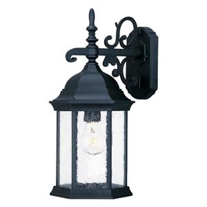 "Acclaim Lighting Madison 1-Light Wall Mount Lantern - 6.1"" x 15"" - Black"