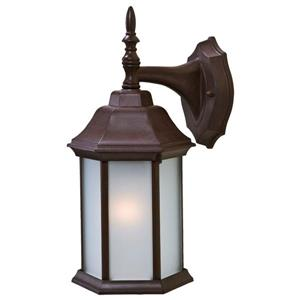 "Acclaim Lighting Craftsman 2 1-Light Wall Mount Lantern - 13"" - Walnut"