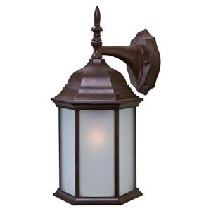 "Acclaim Lighting Craftsman 2 1-Light Wall Mount Lantern - 8"" x 15.5"" - Walnut"