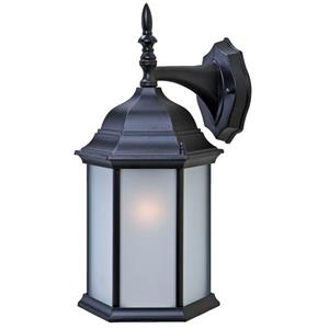 "Acclaim Lighting Craftsman 2 1-Light Wall Mount Lantern - 8"" x 15.5"" - Black"