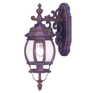 """Acclaim Lighting Chateau 3-Light Wall Mount Lantern - 7.5"""" x 22"""" - Walnut"""