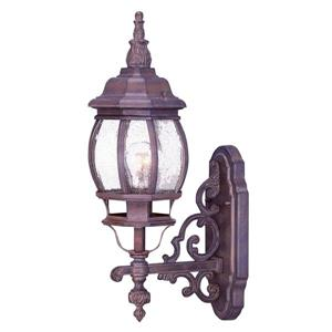 "Acclaim Lighting Chateau 1-Light Wall Mount Lantern - 6"" x 20.5"" - Walnut"