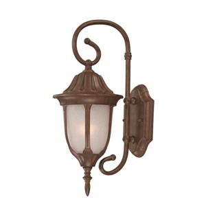 "Acclaim Lighting Suffolk 1-Light Wall Mount Lantern - 6.5"" x 16"" - Walnut"