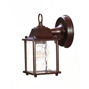 "Acclaim Lighting Builder's choice 1-Light Wall Mount Lantern - 8.5"" - Black"