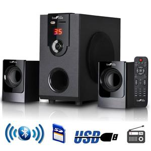 Beefree Sound Bluetooth Speaker System - 13-in x 10.75-in - Black - 5 pcs