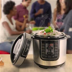 Megachef 6 Quart Digital Pressure Cooker - 14-in - Silver