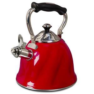 Mr. Coffee Alderton Tea Kettle - Stainless Steel - Red