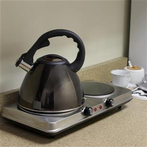 Mr. Coffee Clarendon Tea Kettle - Stainless Steel - Gunmetal