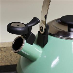 Mr. Coffee Marlowe Whistling Tea Kettle - 2.8 L - Steel - Mint Green