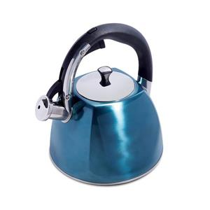 Mr. Coffee Belgrove Whistling Kettle - 2.5 L - Stainless Steel - Blue