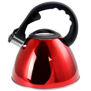 Mr. Coffee Clarendon Tea Kettle - 2.6 L - Polished Steel - Red