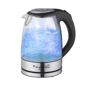 MegaChef Electric Tea Kettle - 1.7 L - Glass