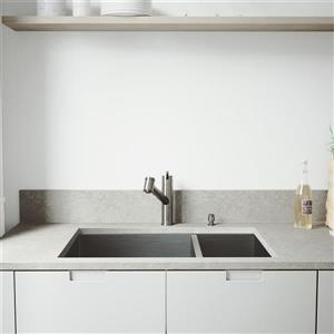 VIGO Kitchen Sink with Faucet, Grids and Strainers - 29-in