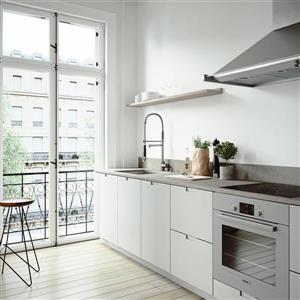 VIGO Kitchen Sink with Faucet, Grid & Strainer - 23-in x 18-in