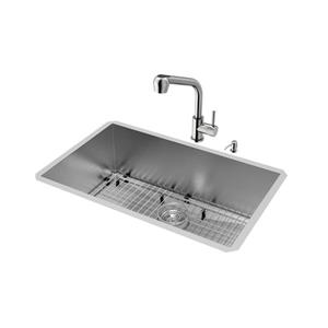 VIGO Kitchen Sink with Avondale Faucet - 30-in
