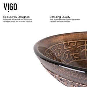 Vigo Vessel Bathroom Sink with Faucet - Oil Rubbed Bronze