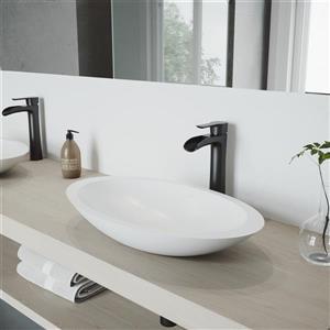 Vigo Niko Vessel Bathroom Faucet - 1 Handle - Matte Black
