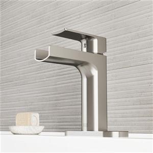 Vigo Ileana Single Hole Bathroom Faucet with Deck Plate