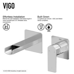 Vigo Atticus Wall Mount Bathroom Faucet - 1 Handle