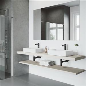 Vigo Amada Vessel Bathroom Faucet - 1 Handle - Matte Black