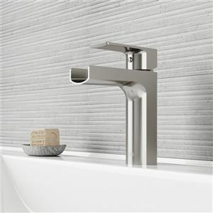 Vigo Ileana Single Hole Bathroom Faucet - Brushed Nickel