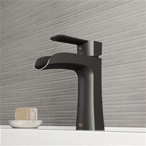 Vigo Paloma Single Hole Bathroom Faucet - 1 Handle - Matte Black