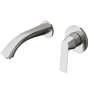 Vigo Aldous Wall Mount Bathroom Faucet - Brushed Nickel