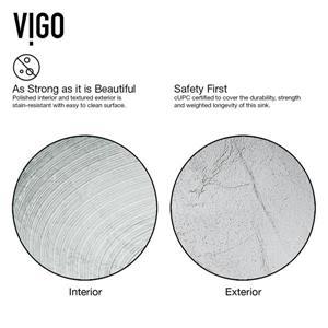 VIGO Glass Vessel Bathroom Sink with Faucet - Bronze