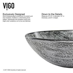 Vigo Titanium Vessel Bathroom Sink with Faucet - Bronze
