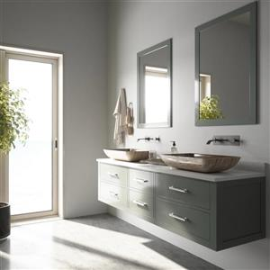 VIGO Glass Vessel Bathroom Sink and Wall Mount Faucet - 22-in